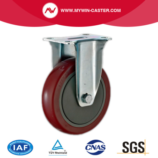 Hollow Swivel Style Red PU Industrial Castor Wheels