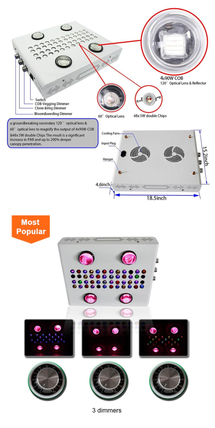 900W noas LED grow light