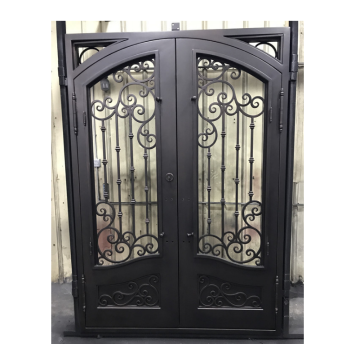 Wrought Iron Doors Double Exterior for Sale