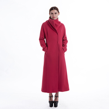 Gules ladies long cashmere coat