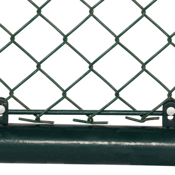 latch gate wheels green coated chain link fence
