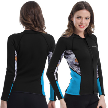 Seaskin Womens Navy Neoprene Surfing Wetsuits Jacket