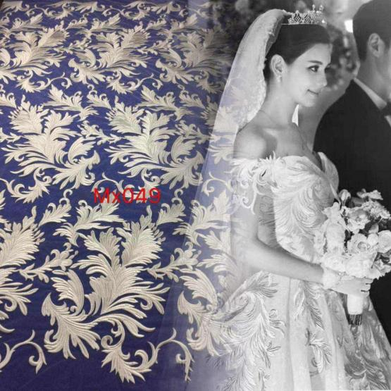 Flower Embroidery Tulle Fabric for Party