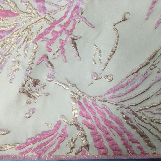 Pink Print Knit Jacquard Fabric for Dress