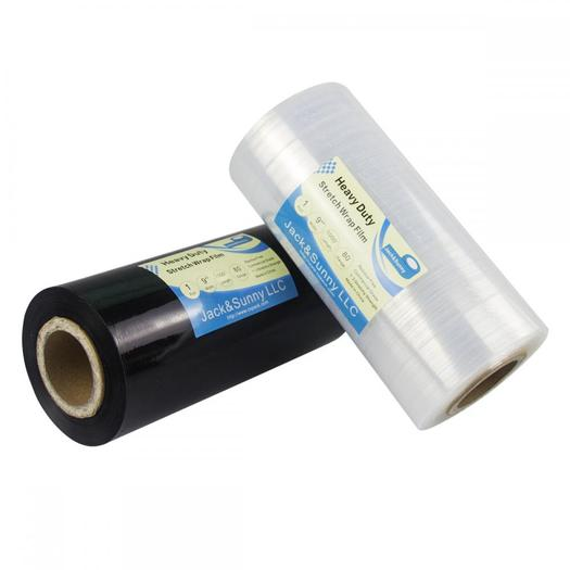 9inch X1000 Ft Black Stretch Wrap For Packaging