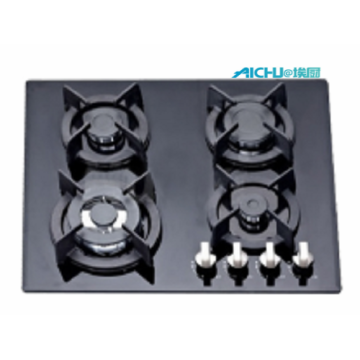 4 Burners Tempered Glass Kitchen Hob Top