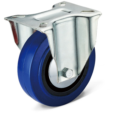 13 Series Elastic Rubber Fixed Casters