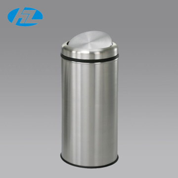 High Quality Stainless Steel Trash Bin with Swing Lid, Dustbin