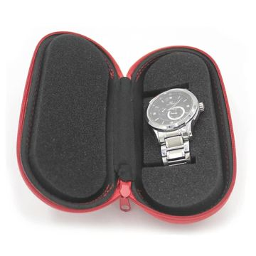 Customized Traveling  red PU watch case
