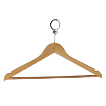 Wooded Clothes Hanger Coat Hanger with Metal Hook