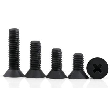 High quality heat treated stainless steel screw black