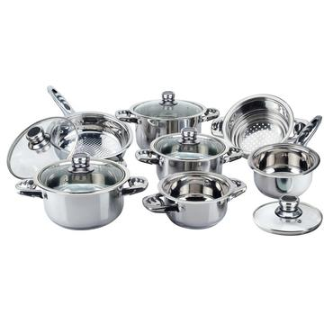 Economic 12pcs wide edge cookware est