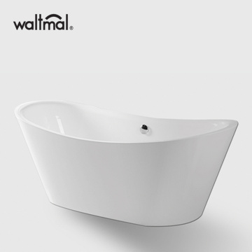Acrylic double ended freestanding bathtub in white