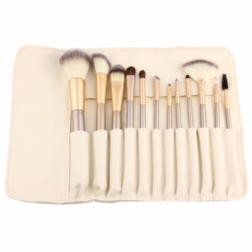 12pcs Private Label makeup brushes set with wallet