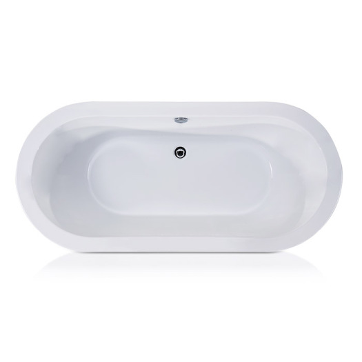 Mermaid Center Drain Soaking Tub in White