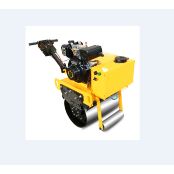 Hand-held construction single drum vibratory roller