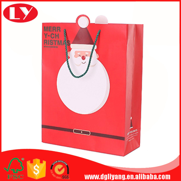 Custom made christmas paper shopping gift bags