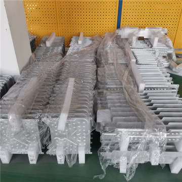 Brazed aluminum water cooled heat sink plate