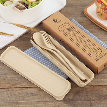 Chopsticks Fork Spoon Travel Set Biodegradable Cutlery