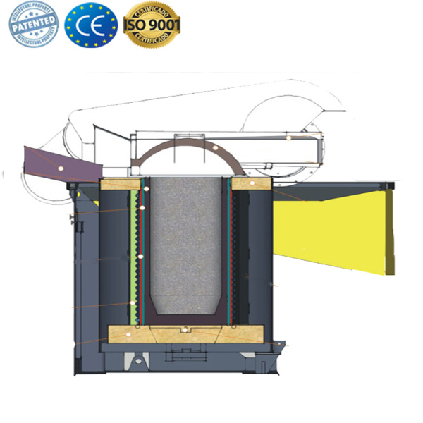 Gold metal smelting furnace for casting machine