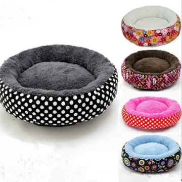 Woven cloth round breathable kennel pillow top mattress