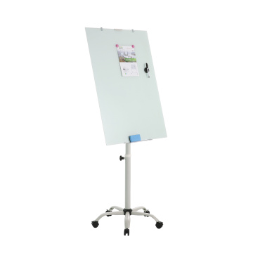 Magnetic Adjustable Mobile Glass Flipchart Easel