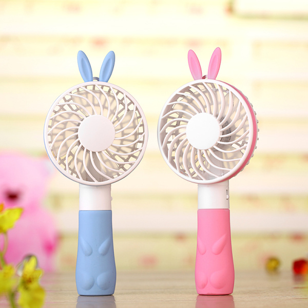 Cute rabbit cartoon fan pink colorful mini