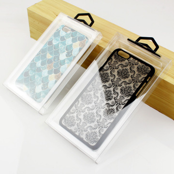 Plastic clear phone case packaging box