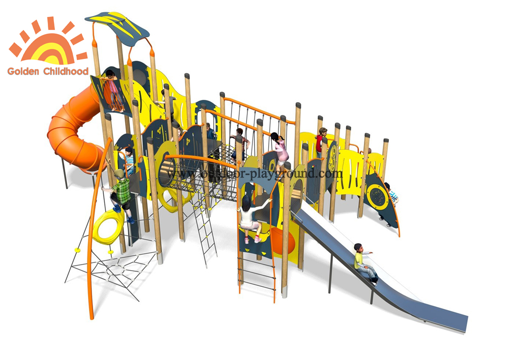 Outdoor Play Structure Playground Plastic Slide For Children