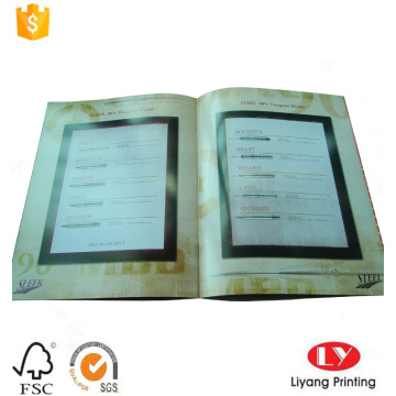 Cheap softcover company product catalogue printing