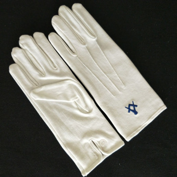 Masonic Dress Gloves with Square Compass