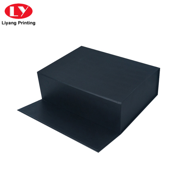 Custom Large Collapsible Black Paper Gift Box