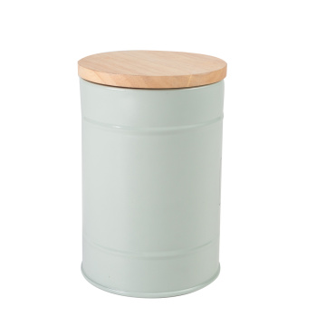 Wooden Metal Storage Bin with Bamboo Lid Walmart
