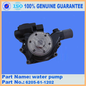 Komatsu spare parts PC60-7 water pump 6205-61-1202 for engine parts