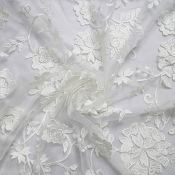 White Embroidery lace Africa Tulle Lace