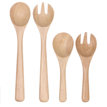 Beech wood salad set
