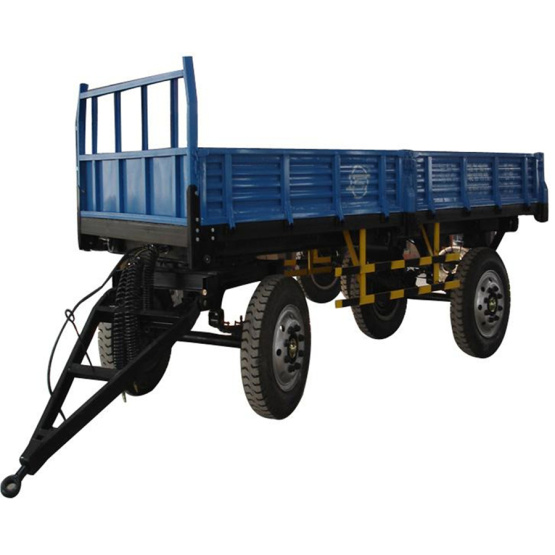 Four wheel double axle farm trailer