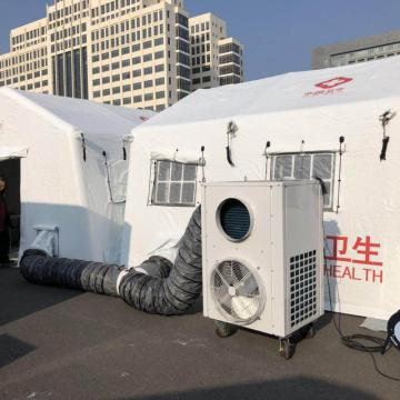 Field Medical tent with air conditioner cooling