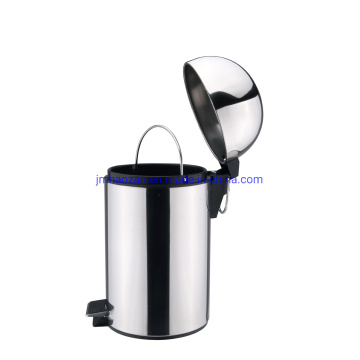 Home Use Stainless Steel Half- Round Shape Lid Pedal Wastebin