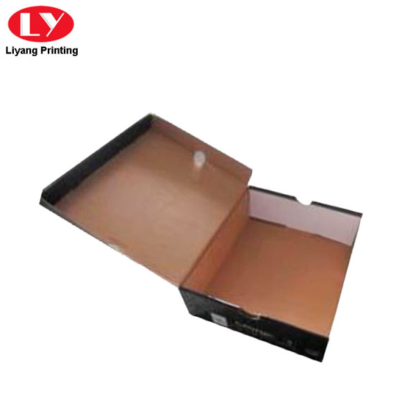 Black Corrugated Shipping Box for Shoes