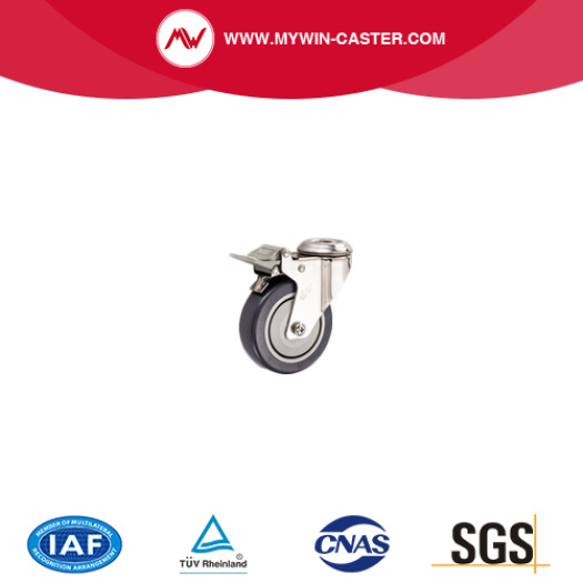 Stainless Steel Polished caster for hospital bed