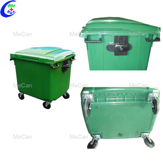 Industrial Plastic Outdoor Garbage Bin with rubber wheels