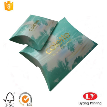 Small pillow box for jewelry packaging