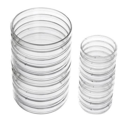 Clear Transparent Sterile Plastic Petri Dishes Lab Supplies