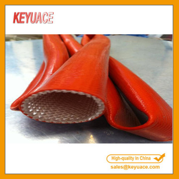 Silicone Rubber Coated Braided Fiberglass Fire Sleeve