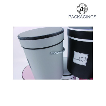 Cheap round flower paper packaging box