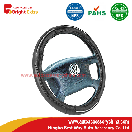 Chrome Trim Auto Steering Wheel Cover
