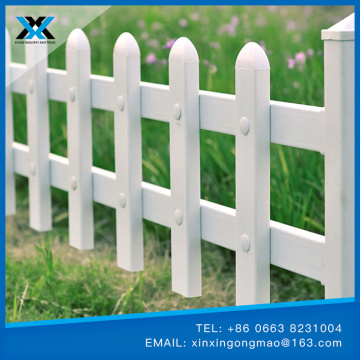 PVC flower bed fence