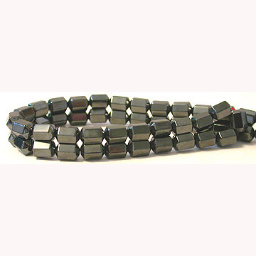 Hematite 6side Barrel Beads 6X8MM