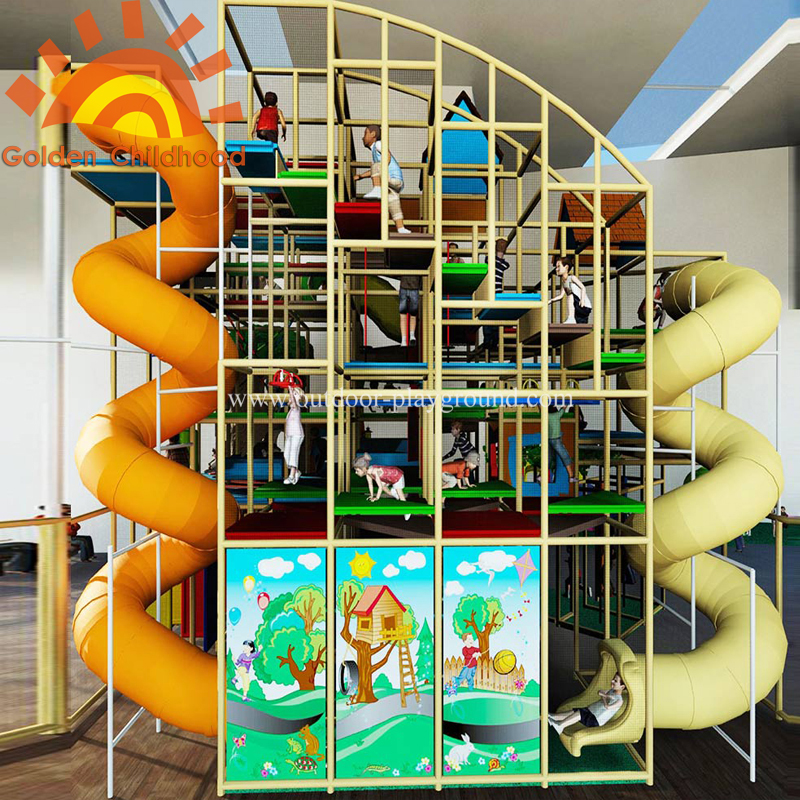 Large indoor play structure equipment for kids